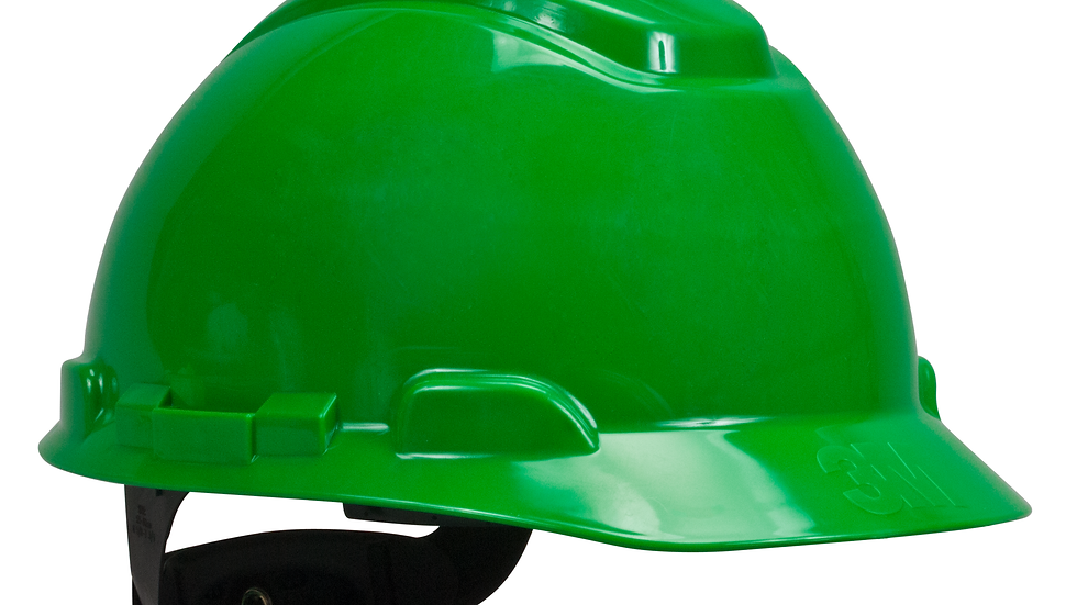 3M™ Hard Hat H-704R, Green 4-Point Ratchet Suspension, 20 EA/Case