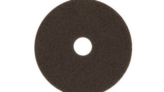 3M™ Brown Stripper Pad 7100, 22 in, 5/Case