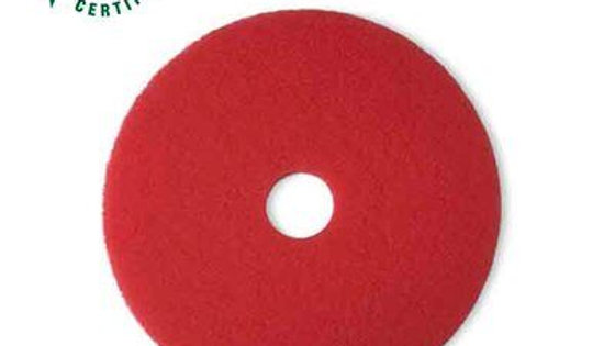 3M™ Red Buffer Pad 5100, 18 in, 5/Case