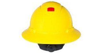 3M™ Full Brim Hard Hat H-802V-UV, Yellow 4-Point Ratchet Suspension