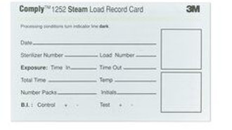 3M™ Comply™ Sterilizer Record Cards 67200, 250/Carton, 4 Cartons/Case