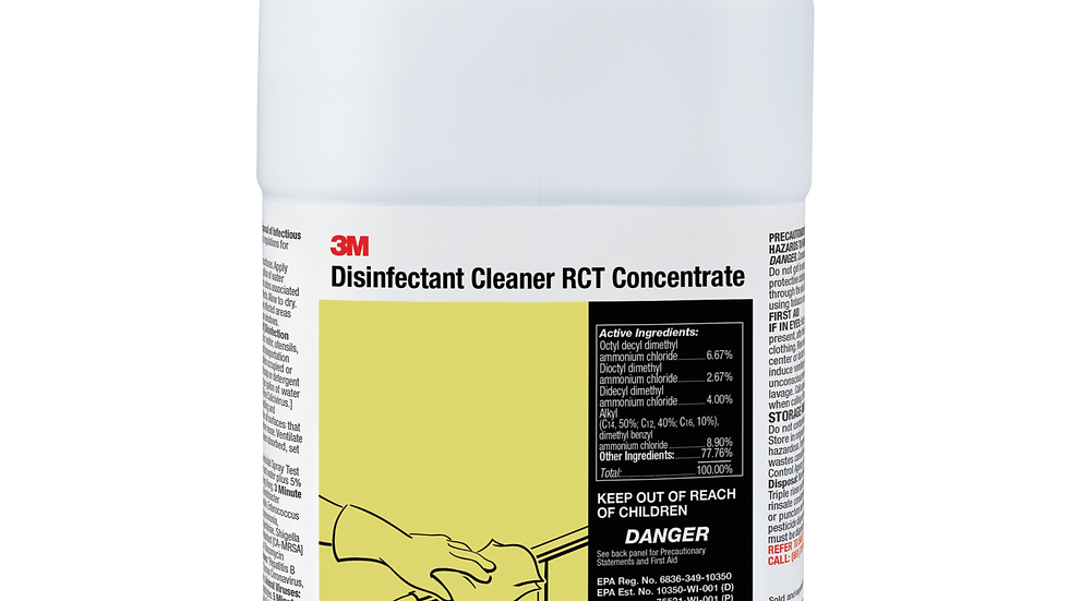 3M™ Disinfectant Cleaner RCT Concentrate, 1 Gallon, 4/Case