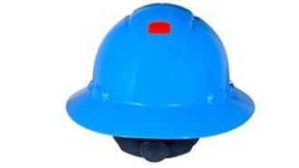 3M™ Full Brim Hard Hat H-803V-UV, Blue 4-Point Ratchet Suspension, Vented