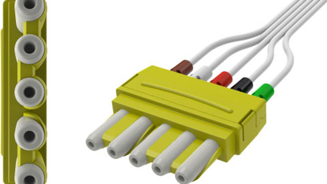ECG Disposable Leadwire, 5-Lead, Universal, Mini-Pinch Connect
