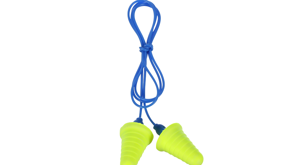 3M™ E-A-R™ Push-Ins™ Earplugs 318-1009, with Grip Rings, Corded, Poly Bag