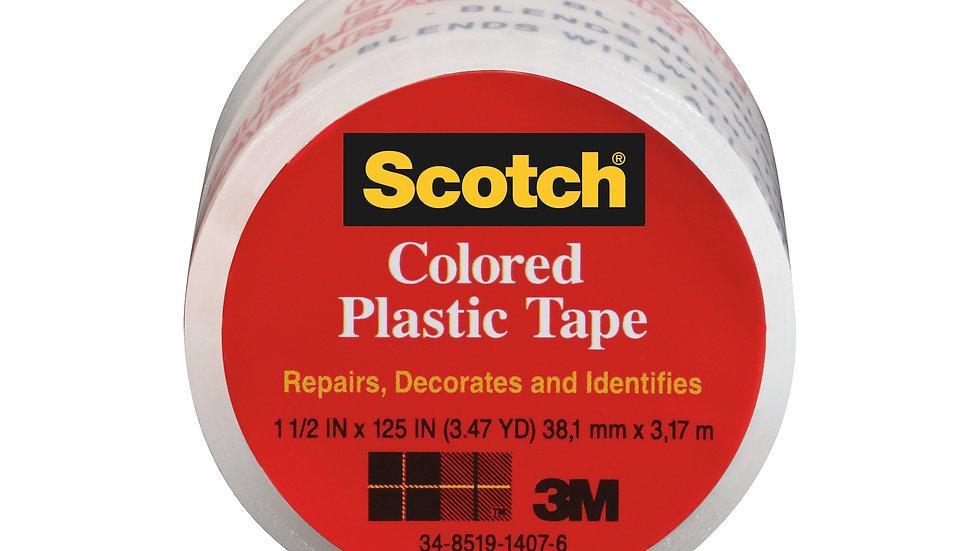 Scotch® Colored Plastic Tape 191CL, 1.5 in x 125 in (38,1 mm x 3,17 m)
