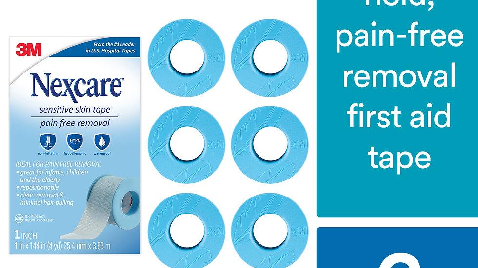 Nexcare™ Sensitive Skin Tape SLT-SIOC, 1 in x 4 yd (25,4 mm x 3,65 m), 6 pack