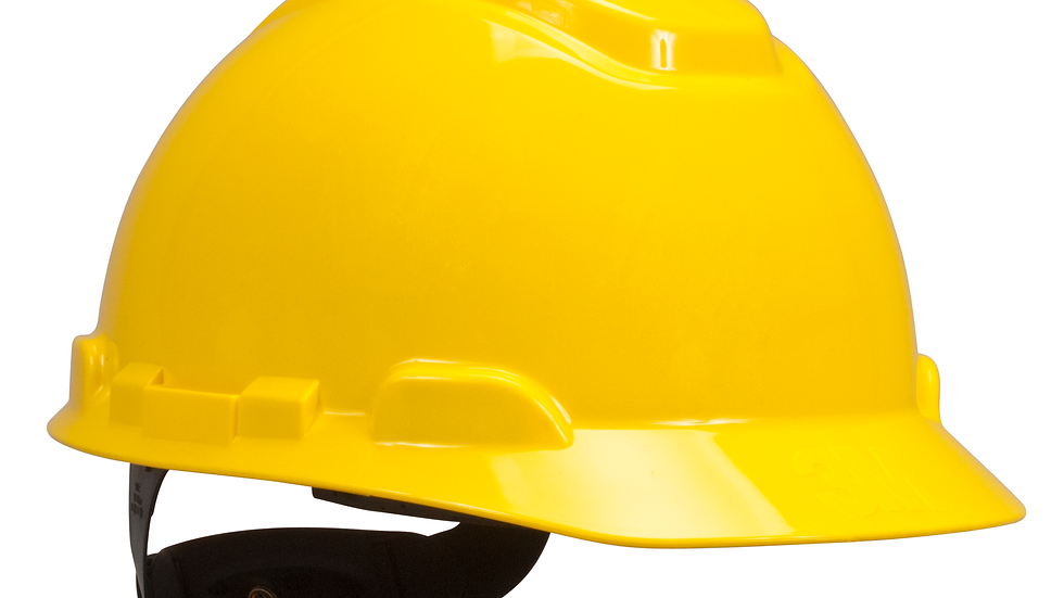 3M™ Hard Hat with Uvicator H-702R-UV, Yellow, 4-Point Ratchet
