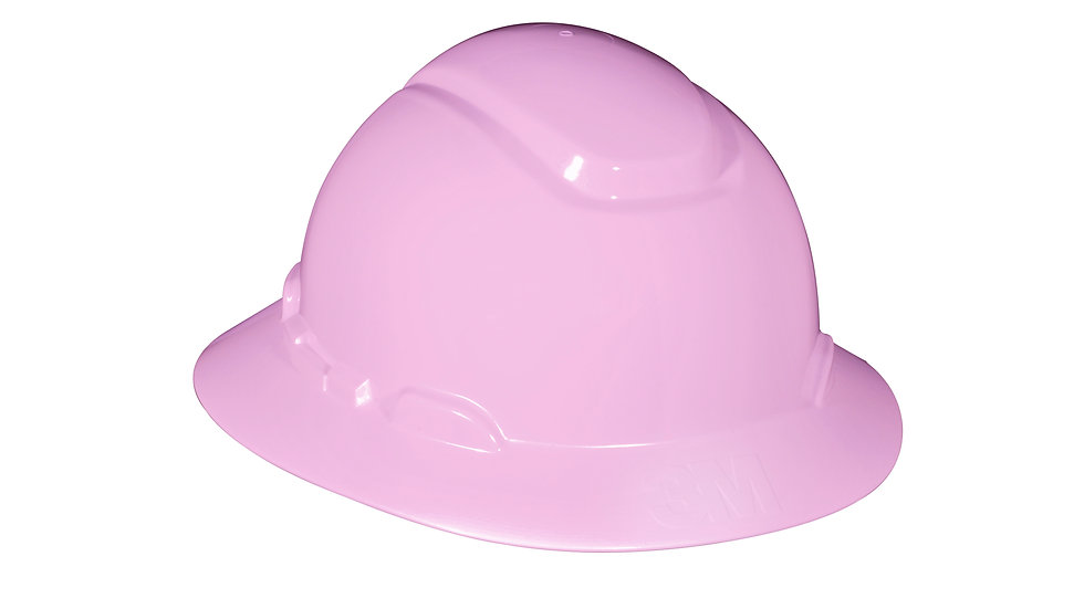 3M™ Full Brim Hard Hat H-813R, Pink, 4-Point Ratchet Suspension, 20