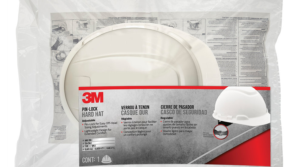 3M™ Non-Vented Hard Hat with Pinlock Adjustment, CHHWH1-12-DC, 12/case