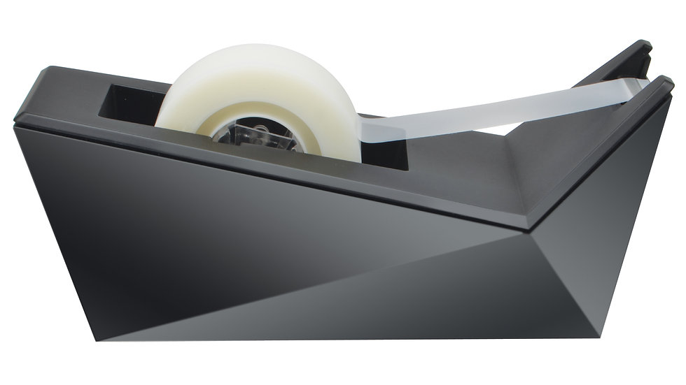 Scotch® Desktop Tape Dispenser, C17-MB-0, Facet Design, Metallic Black Finish