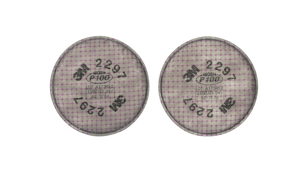 3M™ Advanced Particulate Filter 2297, P100, with Nuisance Level Organic