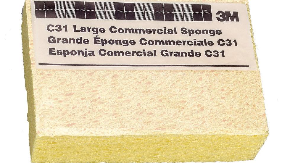 3M™ Commercial Size Sponge C31, 6 in x 4.25 in x 1.625 in, 24/case