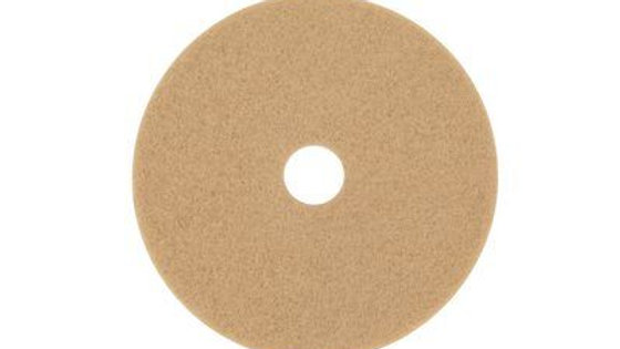3M™ Tan Burnish Pad 3400, 18 in, 5/Case