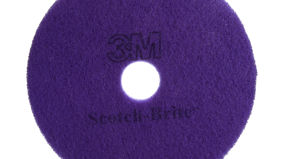 Scotch-Brite™ Purple Diamond Floor Pad Plus, 20 in x 14 in, 5/Case