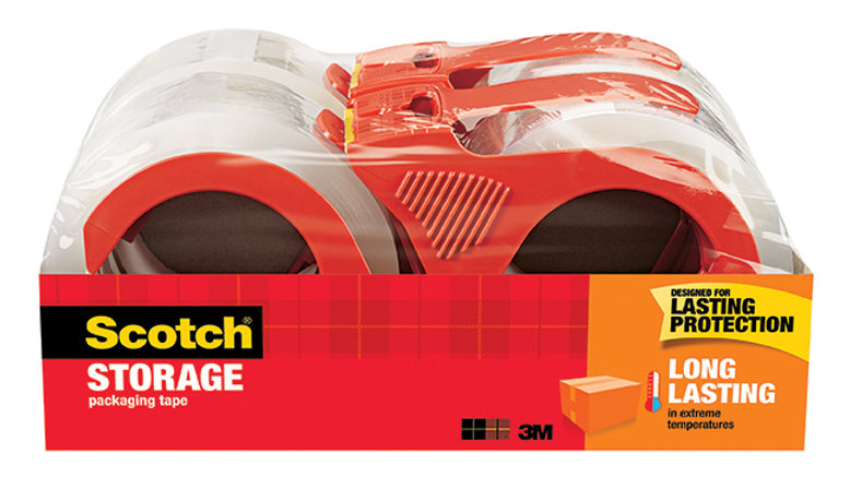 Scotch® Long Lasting Storage Packaging Tape with dispenser