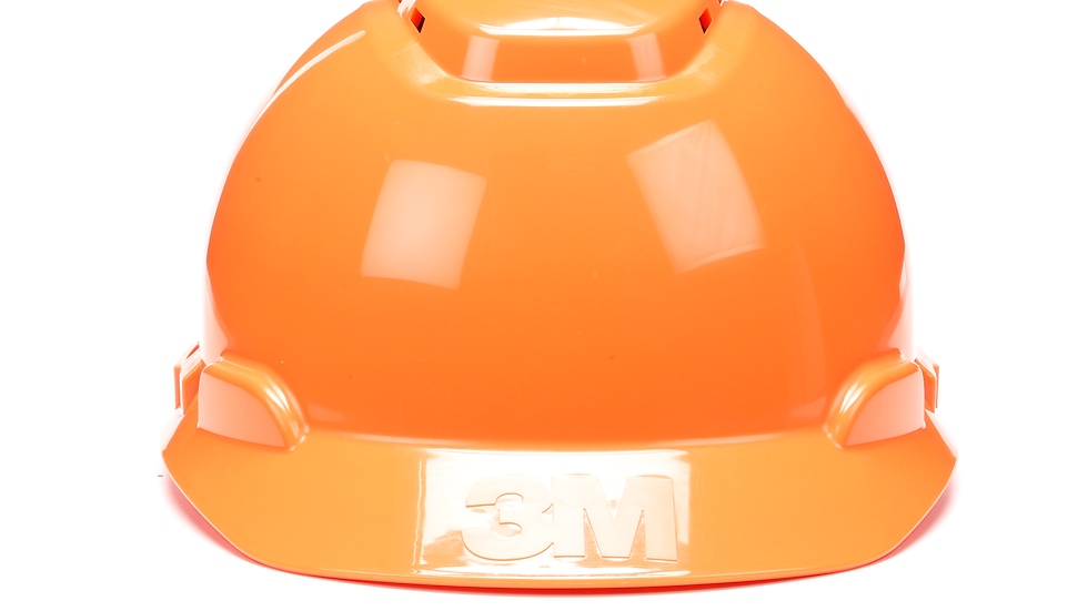 3M™ Hard Hat H-706V, Orange, 4-Point Ratchet Suspension, Vented, 20