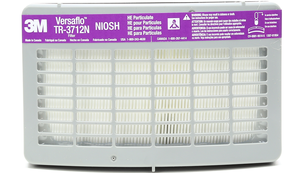3M™ HE Filter TR-3712N, for Versaflo™ TR-300 Series PAPR 5 EA/Case