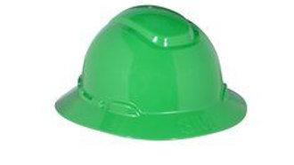 3M™ Full Brim Hard Hat H-804R, Green 4-Point Ratchet Suspension, 20 EA/Case