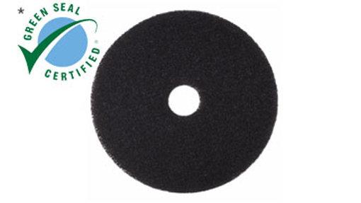 3M™ Black Stripper Pad 7200, 12 in x 18 in, 5/Case
