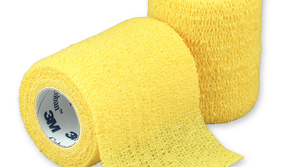 3M™ Coban™ Self-Adherent Wrap 1583Y, Yellow, 3 Inch x 5 Yards, 24 Bags/Case