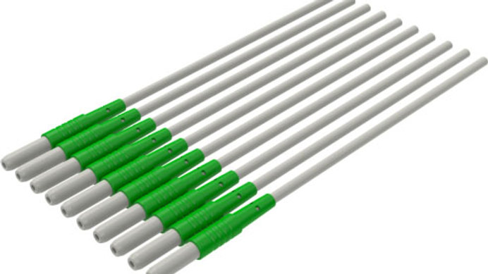 """ECG Reusable Leadwire, 1-Lead Replacement Safety DIN, Snap, 24"""" Green 10 EA/BG,"""