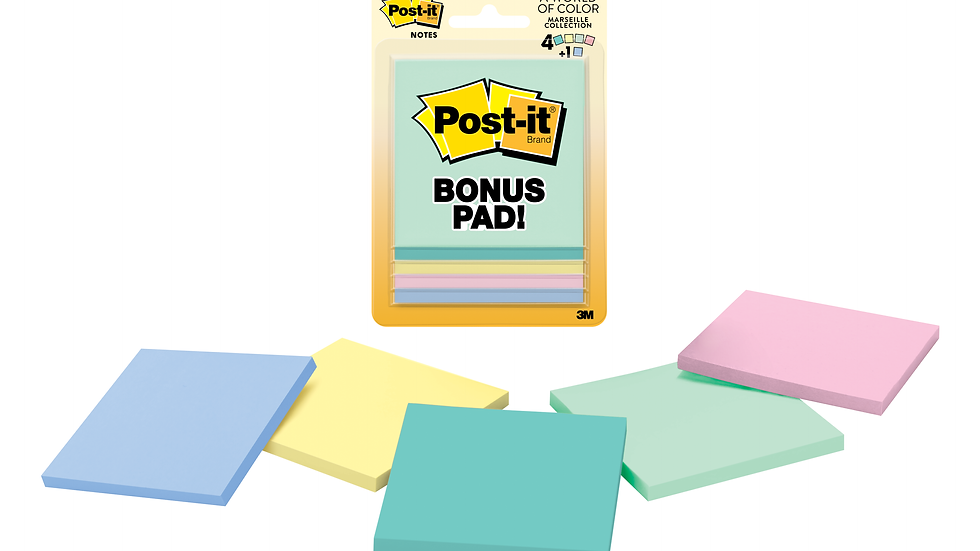 Post-it® 5401-B, 3 in x 3 in (76 mm x 76 mm), Marseille Collection