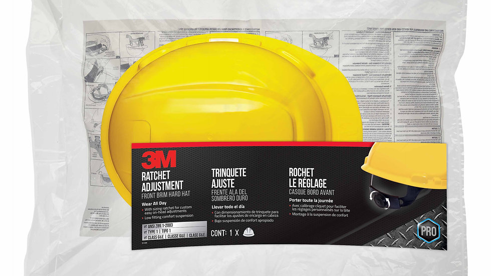 3M™ Non-Vented Hard Hat with Ratchet Adjustment, CHH-R-Y6-PS, 6/case