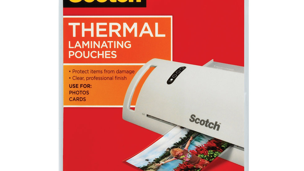 Scotch™ Thermal Pouches TP5900-20 for items ups to 4.33 in x 6.06 in