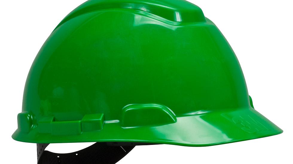 3M™ Hard Hat H-704P, Green, 4-Point Pinlock Suspension, 20 EA/Case