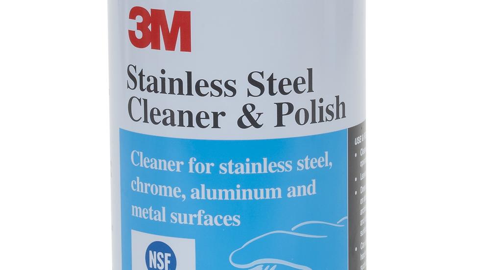 3M™ Stainless Steel Cleaner & Polish 59158, 10 oz Aerosol, 12/Case