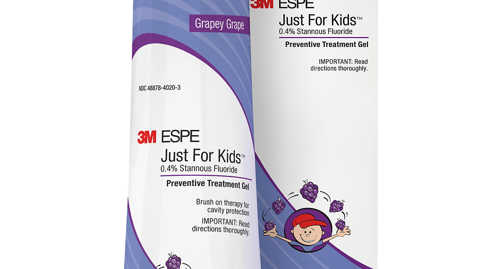 3M™ Just For Kids™ 0.4% Stannous Fluoride Brush-On Gel, 12107G