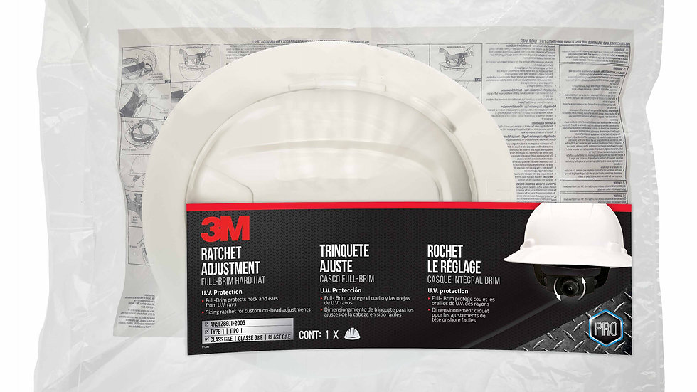 3M™ Full-Brim Non-Vented Hard Hat with Ratchet Adjustment CHH-FB-R-W6-PS 6/case