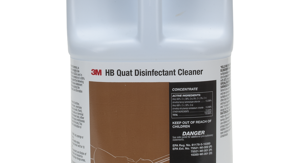 3M™ HB Quat Disinfectant Cleaner Concentrate, Gallon, 4/Case