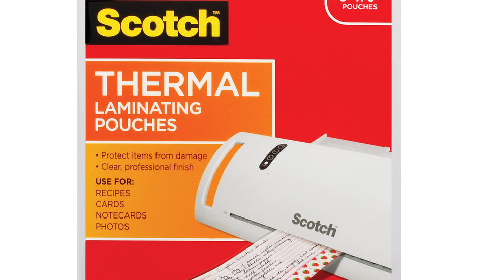 Scotch™ Thermal Pouches TP5902-20 for items ups to 3.70 in x 5.27 in