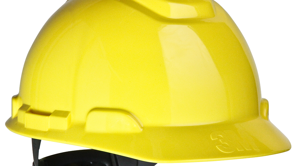 3M™ Hard Hat H-702R, Yellow 4-Point Ratchet Suspension, 20 EA/Case