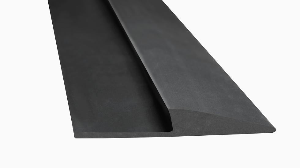 3M™ Matting Edging Roll, Medium Profile, Black, 1 in x 75 ft, 1/Case