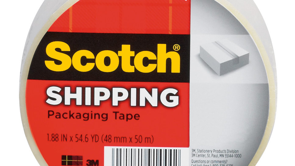 Scotch® Shipping Packaging Tape 3350, 1.88 in x 54.6 yd (48 mm x 50 m)