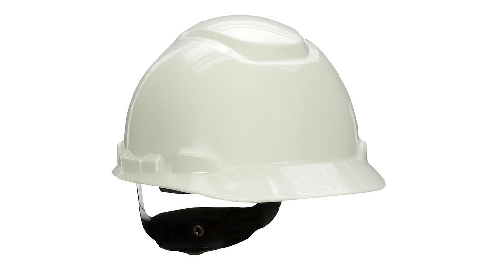 3M Hard Hat with Uvicator H-701R-UV White 4-Point Ratchet Suspension