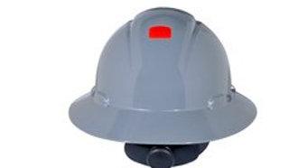 3M™ Full Brim Hard Hat H-808R-UV, Gray 4-Point Ratchet Suspension