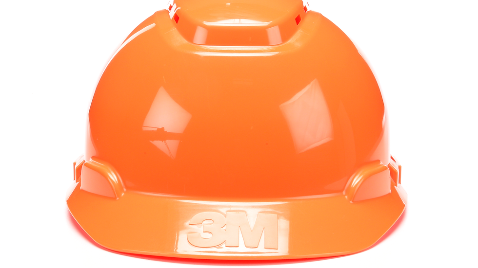 3M™ Hard Hat H-706V-UV, Orange, 4-Point Ratchet Suspension, Vented