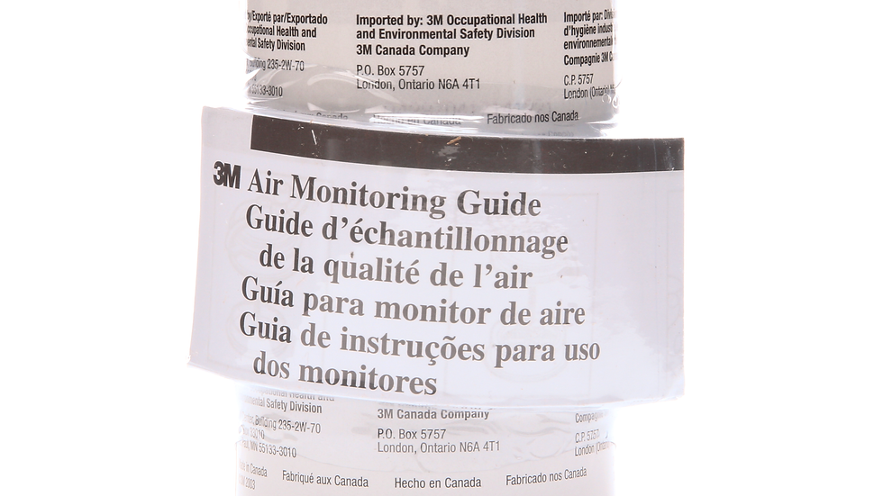 3M™ Formaldehyde Monitor 3720 with Prepaid Analysis, 5 EA/Case