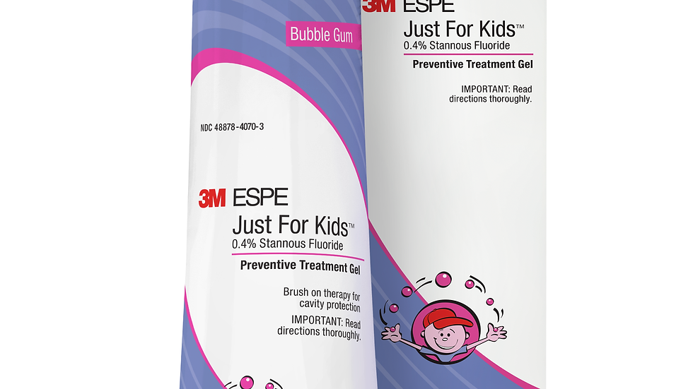 3M™ Just For Kids™ 0.4% Stannous Fluoride Brush-On Gel, 12107B