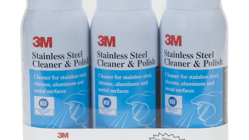 3M™ Stainless Steel Cleaner & Polish 59158CC, 10 Oz Aerosol, 3 Pack