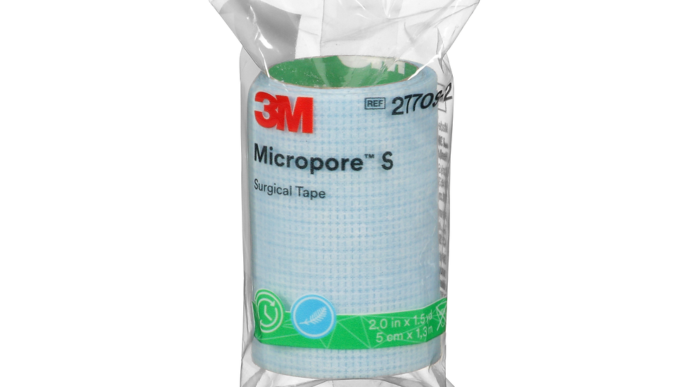 3M™ Micropore™ S Surgical Tape, single-patient use roll 2770S-2