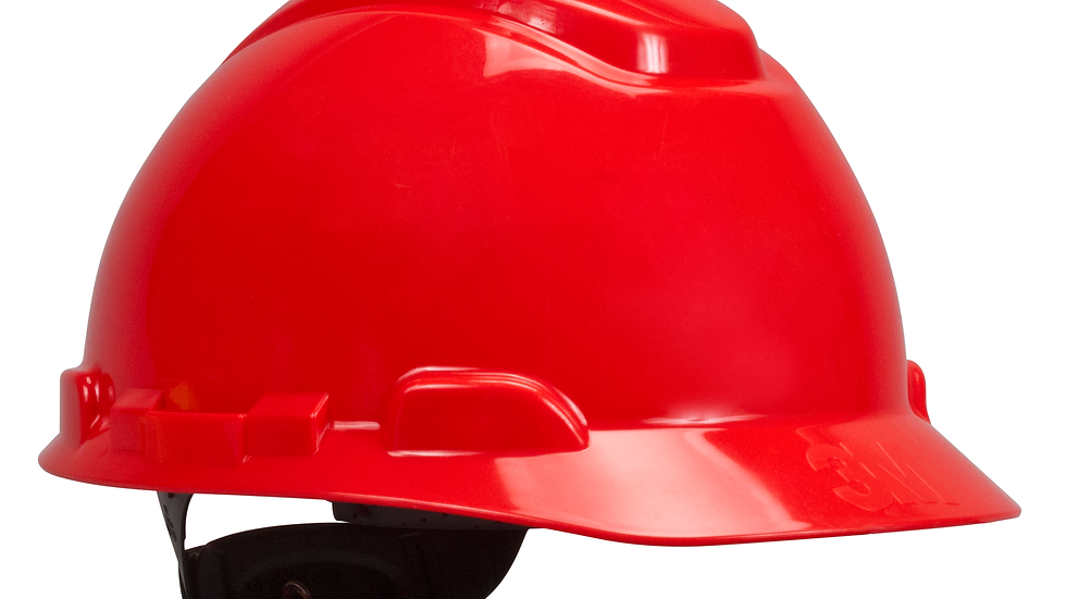 3M™ Hard Hat H-705R, Red 4-Point Ratchet Suspension, 20 EA/Case