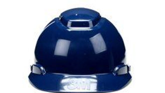 3M™ Hard Hat H-710V-UV, Navy Blue, 4-Point Ratchet Suspension, Vented,