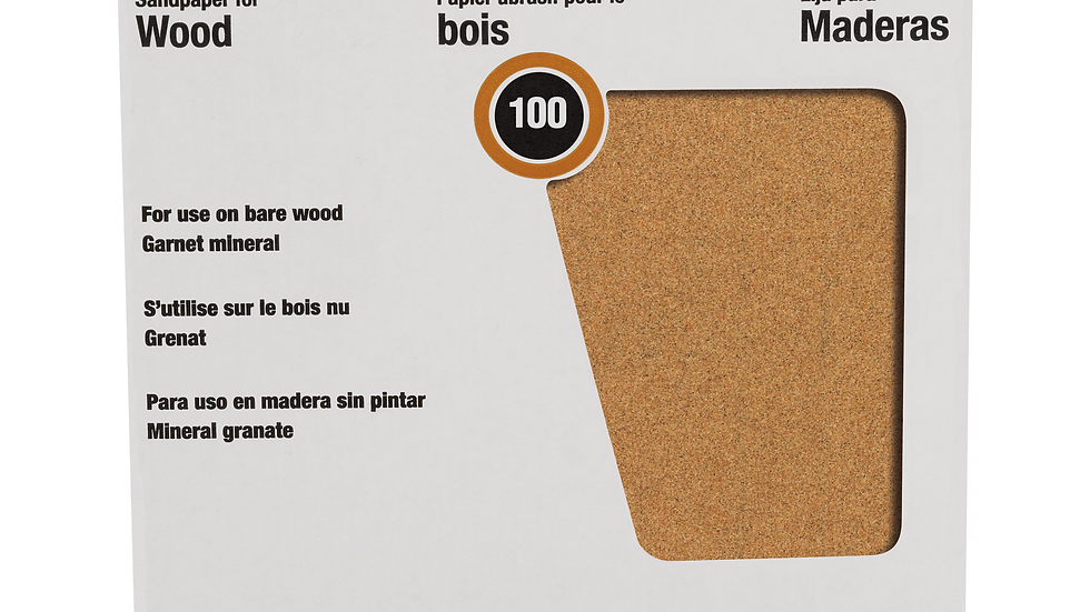 3M™ Pro-Pak™ Garnet Sanding Sheets 88596NA, 9 in x 11 in, 100C grit, 25 sht pk