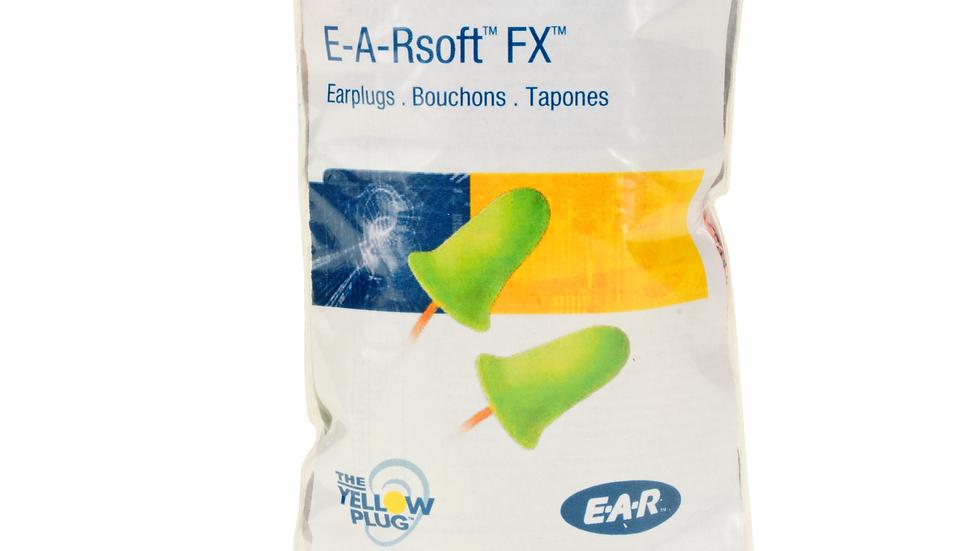 3M™ E-A-Rsoft™ FX™ Earplugs Vending Pack VP312-1260, Corded, 5 Pair/Pack.