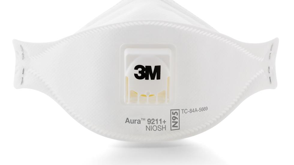 3M™ Aura™ Particulate Respirator 9211+/37193(AAD), N95 120 EA/Case
